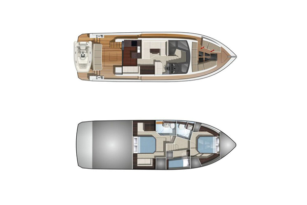 Galeon 470 Skydeck layout